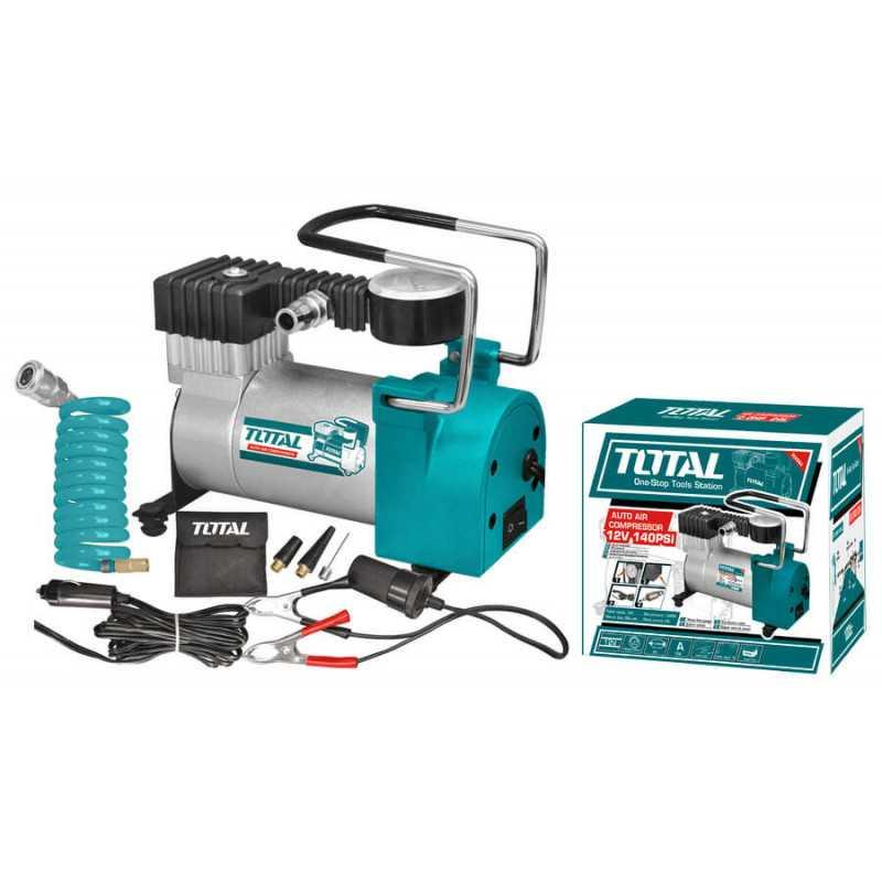 Compresor para Auto 12V 140PSI (10Bar) Total Tools TTAC1401