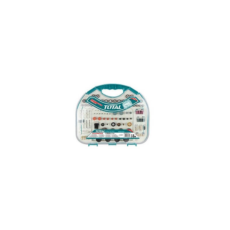 Set Piedras y Accesorios 250 Pzs Herramienta Multiuso Total Tools TACSD12501