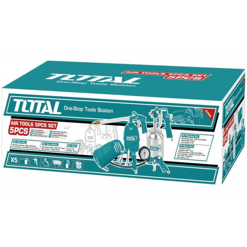 Kit Compresor 5 piezas Total Tools TATK051