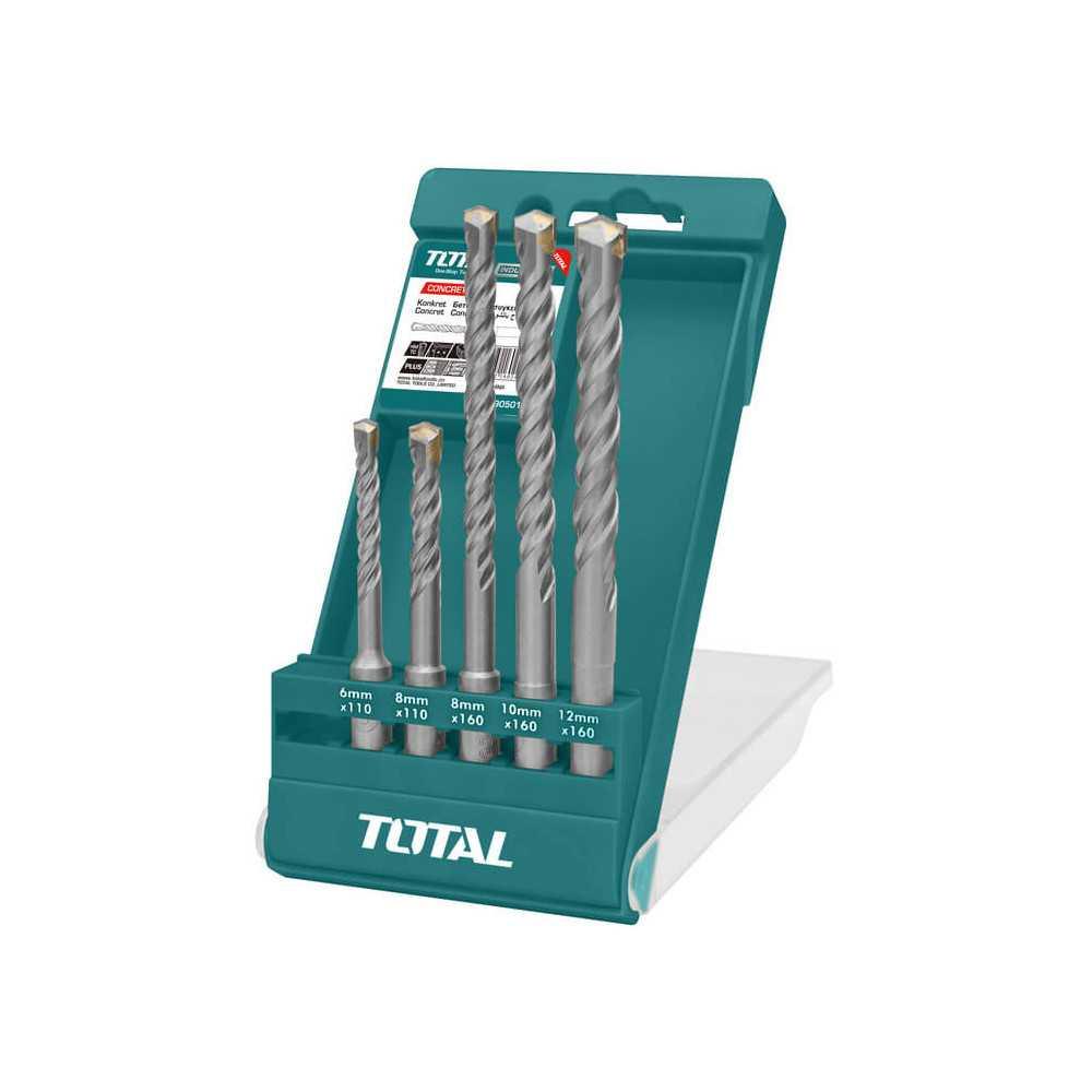 Set Brocas SDS Plus 5 Piezas Total Tools TAC190501