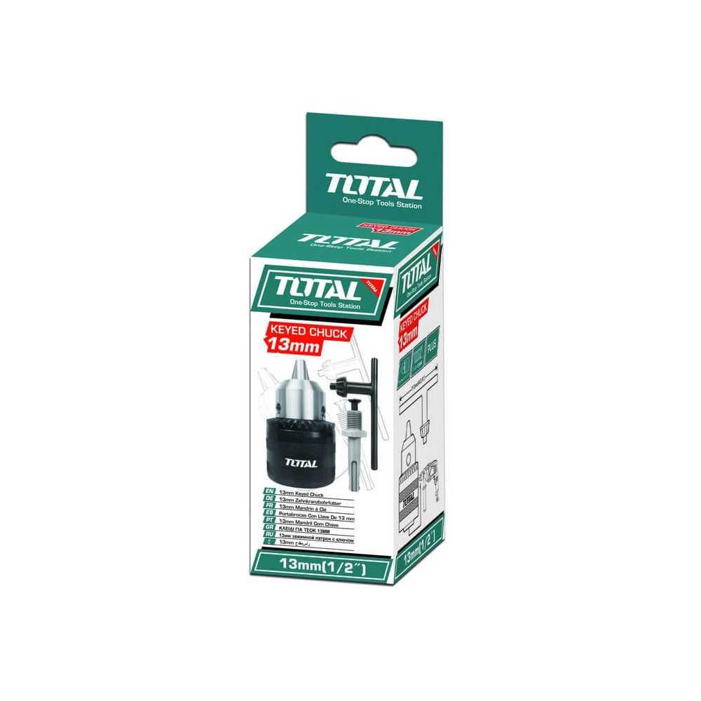 Mandril Taladro 13mm con Adaptador Total Tools TAC451301.1
