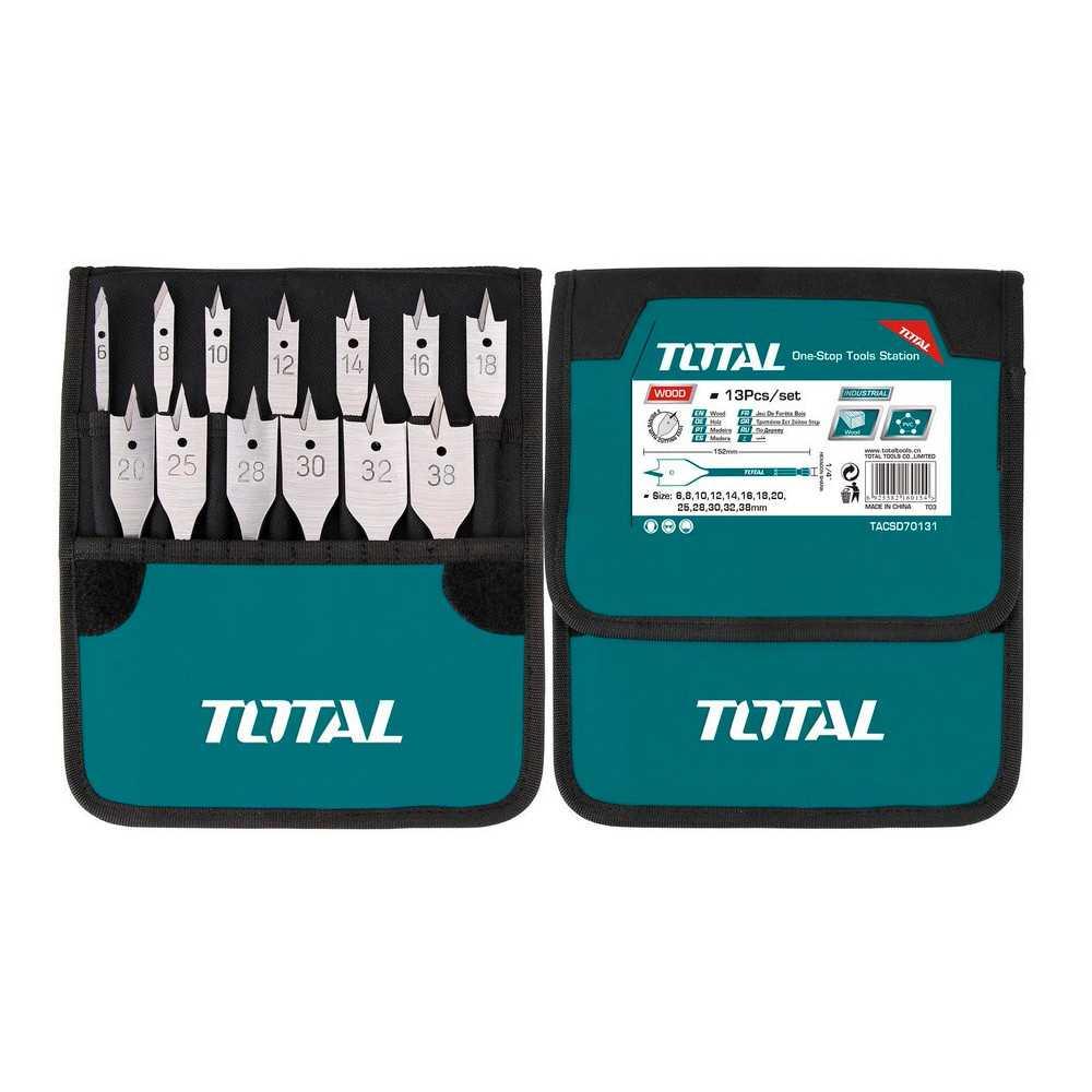 Juego de Brocas Paleta 13 Piezas Total Tools TACSD70131