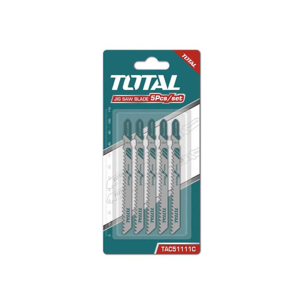 Set Hoja Sierra Caladora para Madera 5 Pzs Total Tools TAC51111C