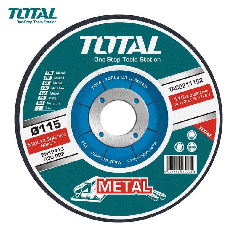"""Disco de Desbaste 4-1/2"""" (115x6.9x22.2 mm) Total Tools TAC2231151"""