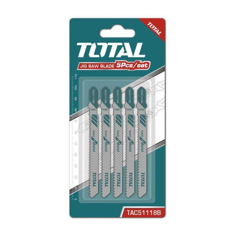 Set Hoja Sierra Caladora para Metal 5 Pzs Total Tools TAC51118B