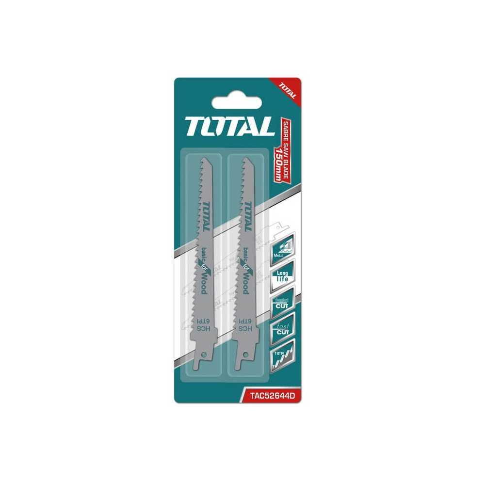Set Hoja Sierra Sable para Madera 2 Pzs Total Tools TAC52644D