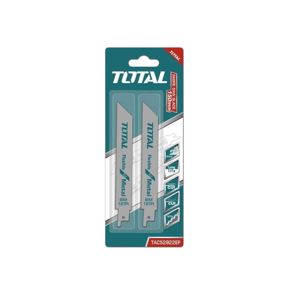 Set Hoja Sierra Sable para Metal 2 Pzs Total Tools TAC52922EF