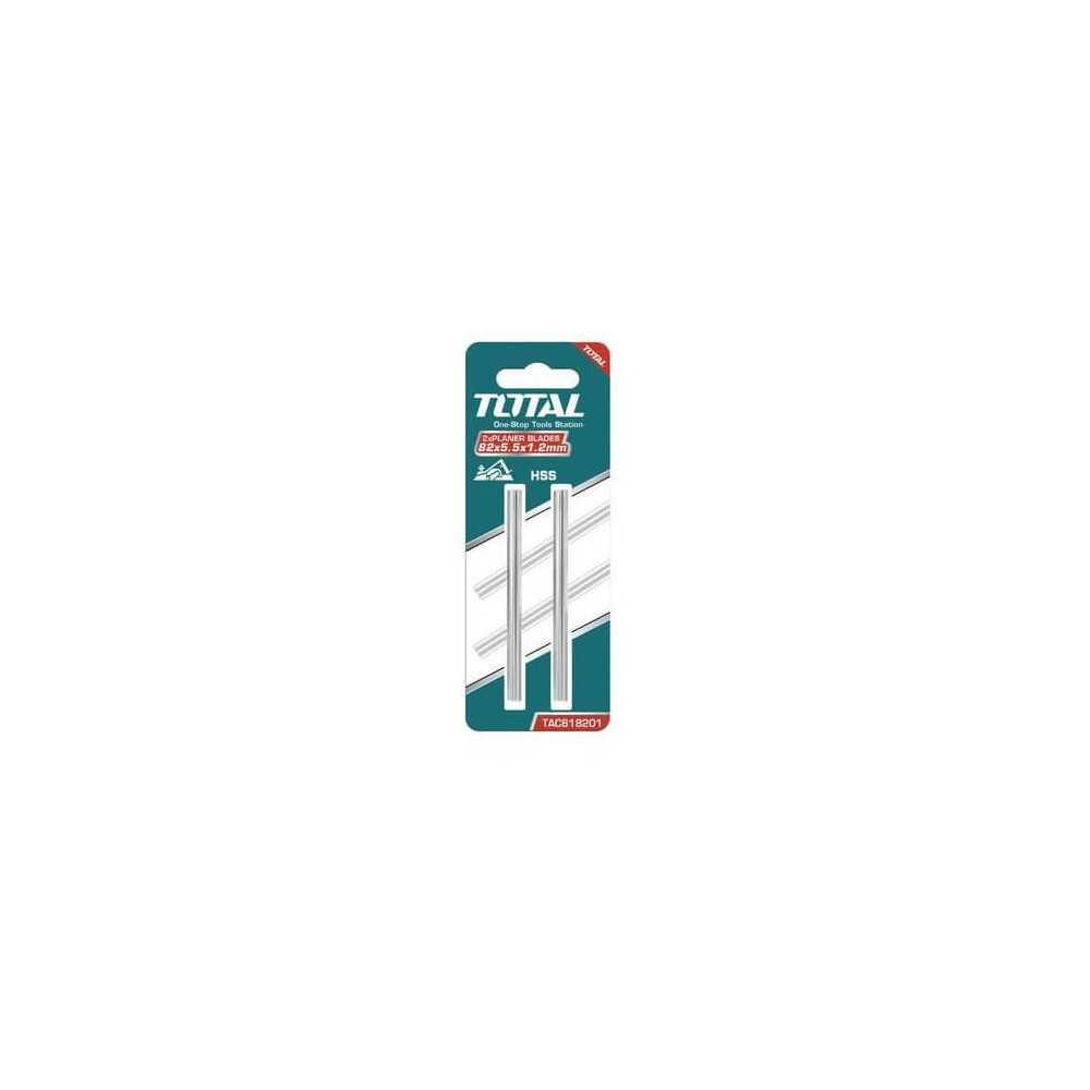 Set Hoja Cepillo Eléctrico HSS 2 Pzs Total Tools TAC618201