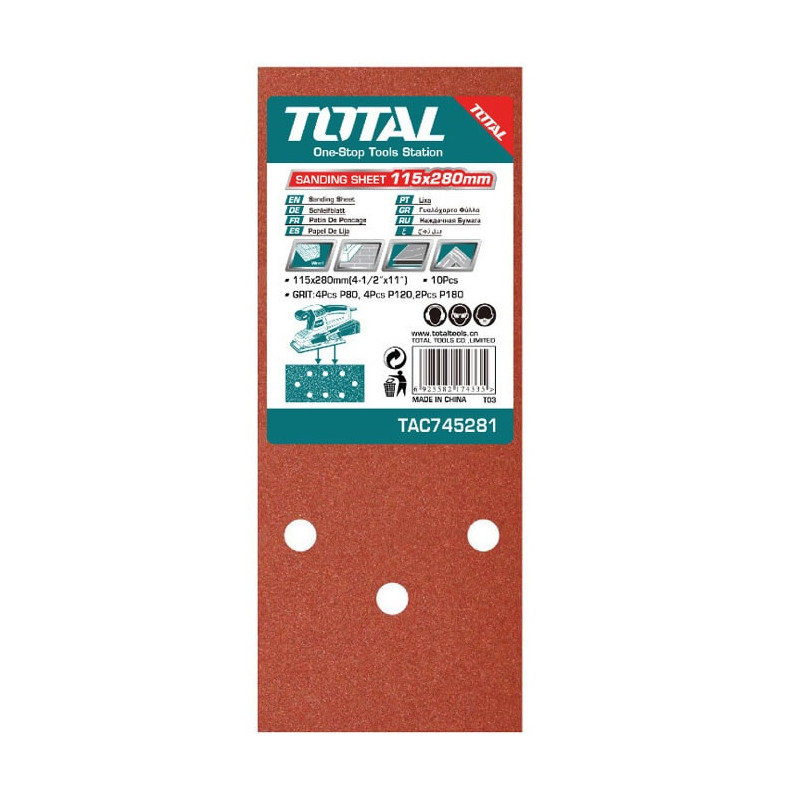 Set Hoja Lija 150 x 280mm 5 Pizs Total Tools TAC745281