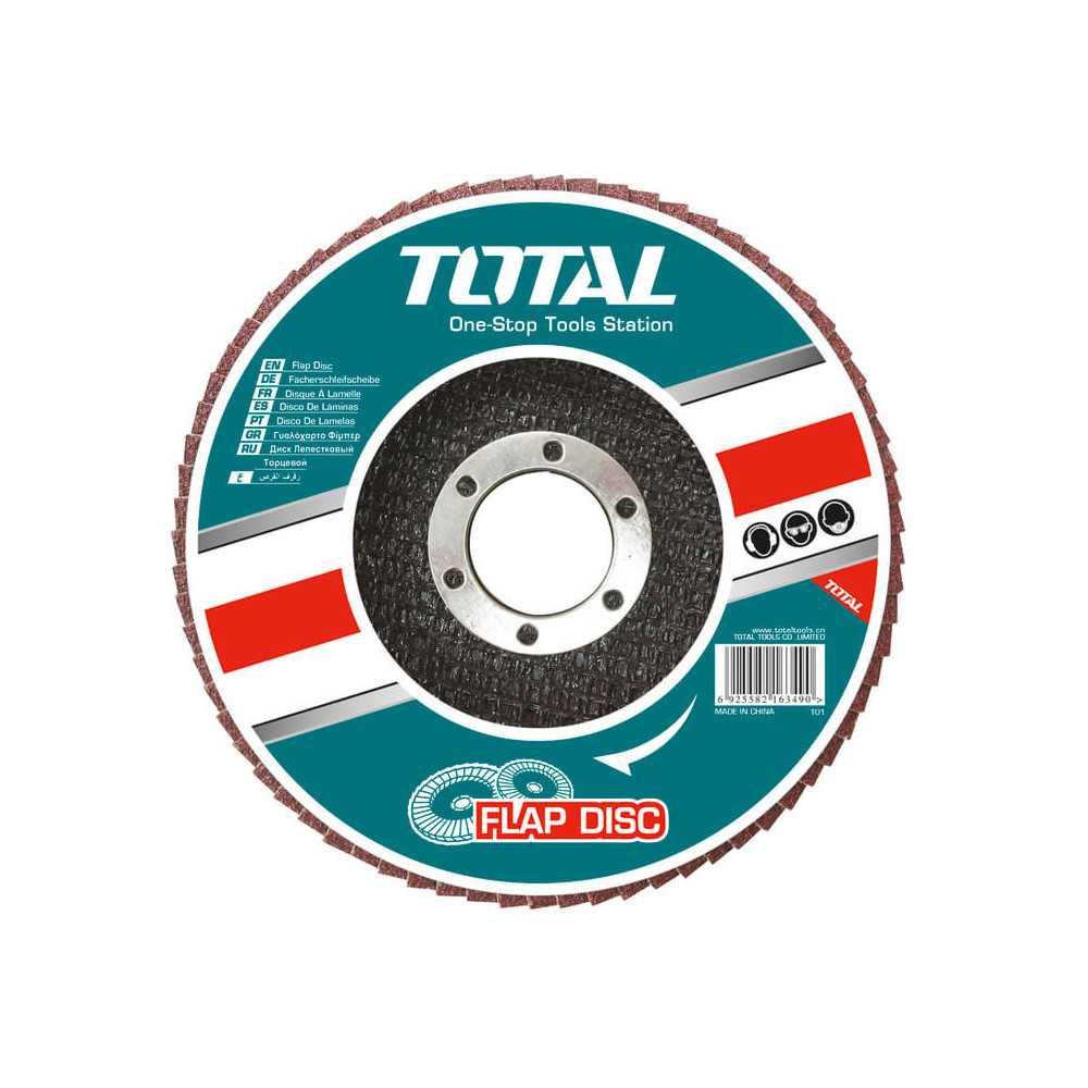"""Disco Flap 4 -1/2"""" (115x22 mm) G40 Total Tools TAC631151"""