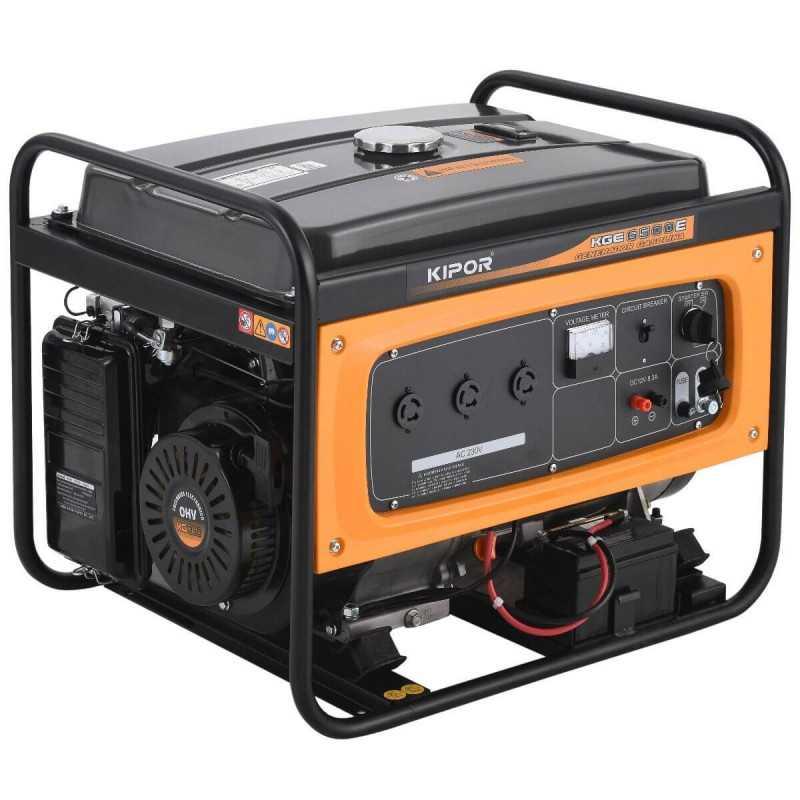 Generador Eléctrico Gasolina 5.500W KGE6500E Kipor 101015310