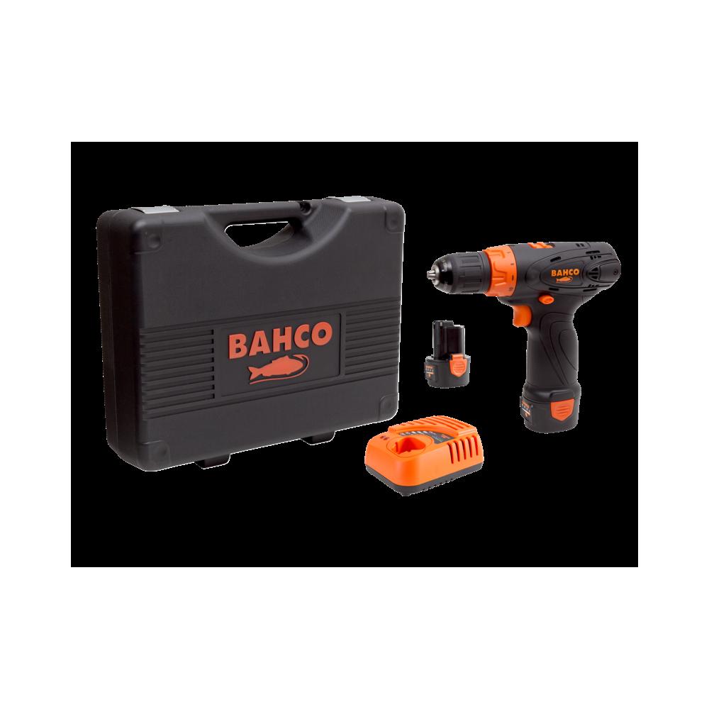 """Taladro Atornillador Inalámbrico 12V 10mm-3/8"""" + 2 Baterías + Cargador + Maleta Bahco BCL31D1K1"""