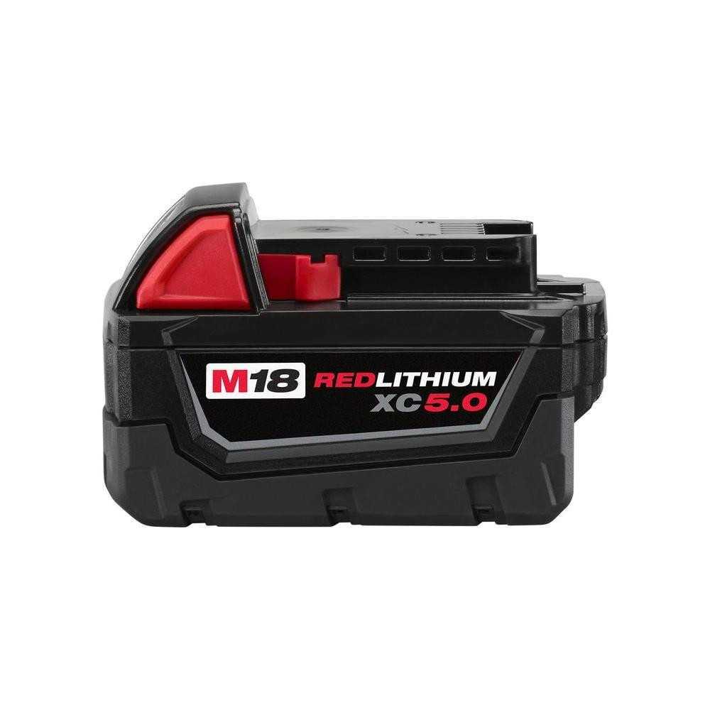 Batería De Capacidad Extendida M18 5.0Ah ION De Litio Milwaukee 48-11-1850