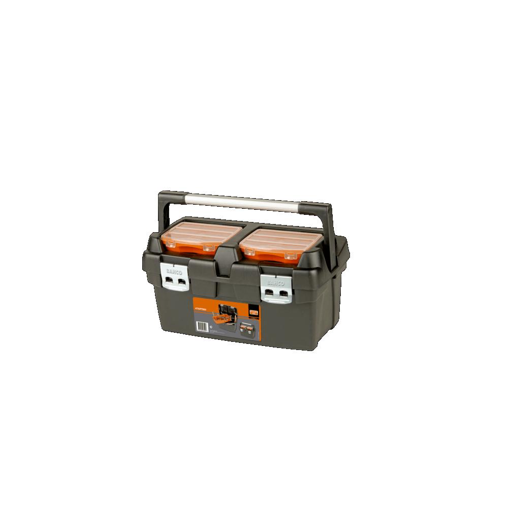 Caja porta herramientas plástica 27 Lt 500x295x270 Bahco 4750PTB50