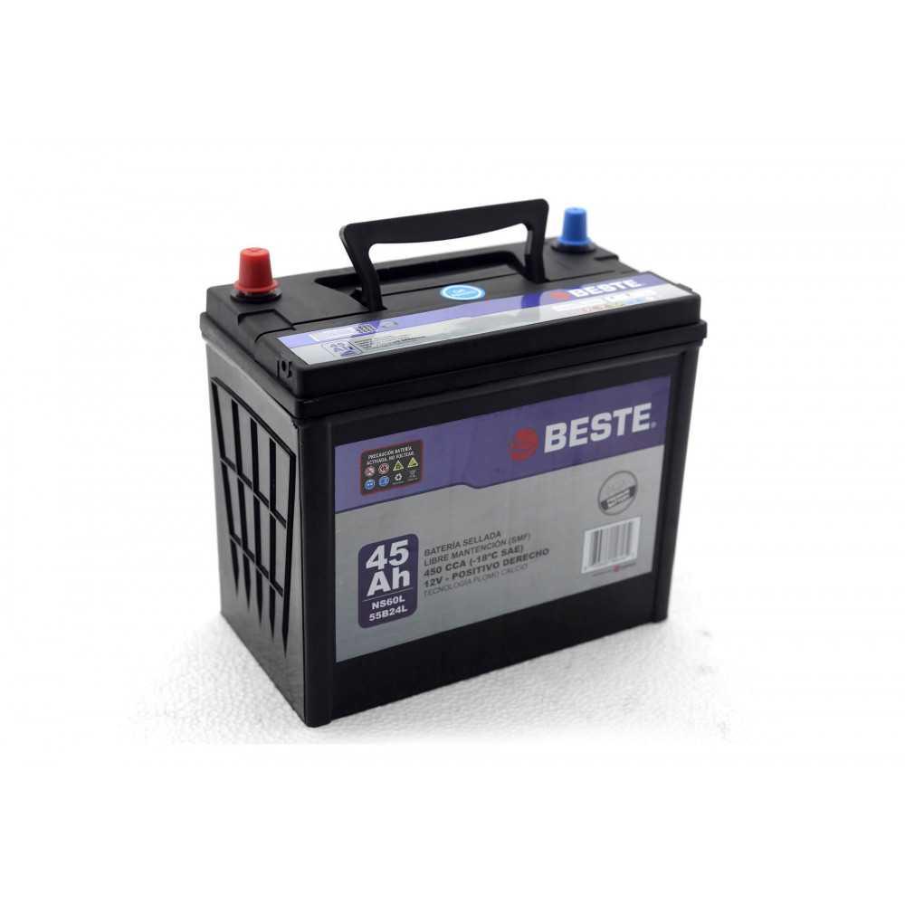 Batería de Auto 45Ah Positivo derecho Beste 39NS60LGB
