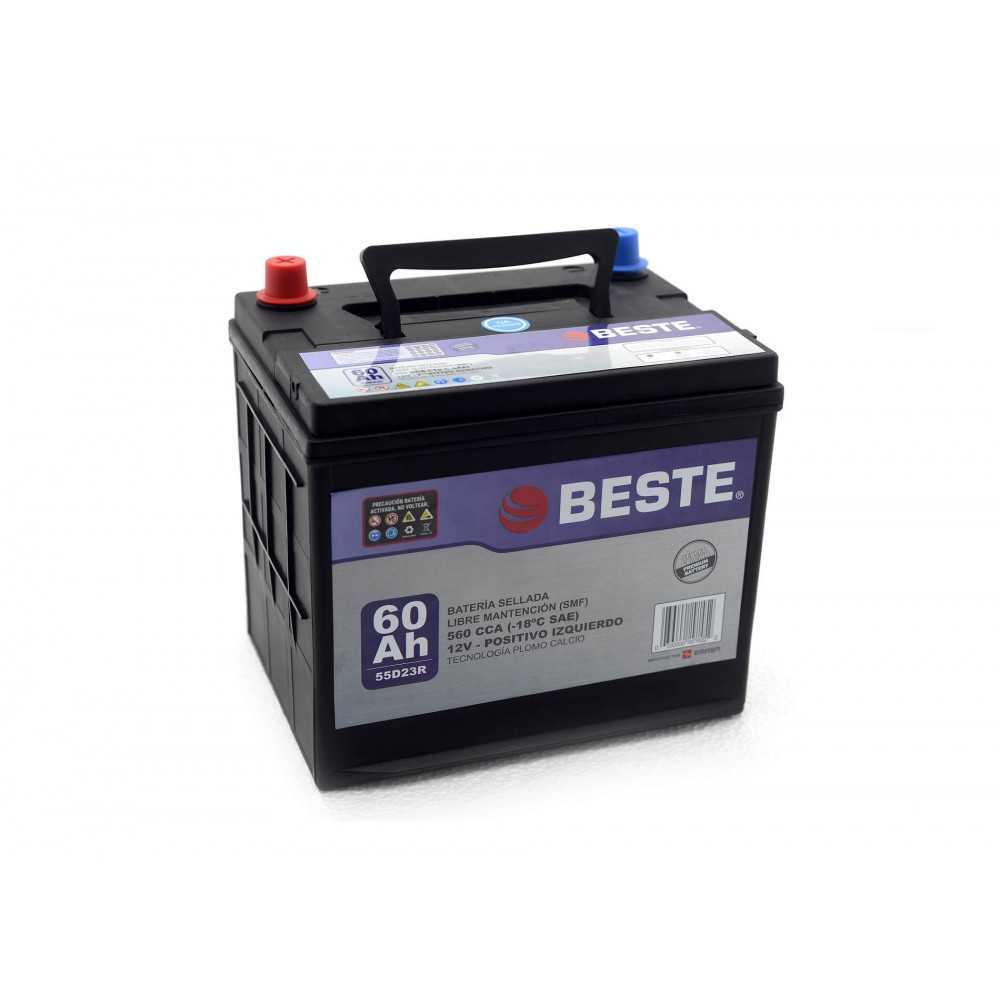 Batería de Auto 12V 60Ah Positivo izquierdo Beste 3955D23RGB
