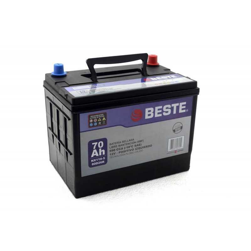 Batería de Auto 12V 70Ah Positivo izquierdo Beste 39NX110-5GB