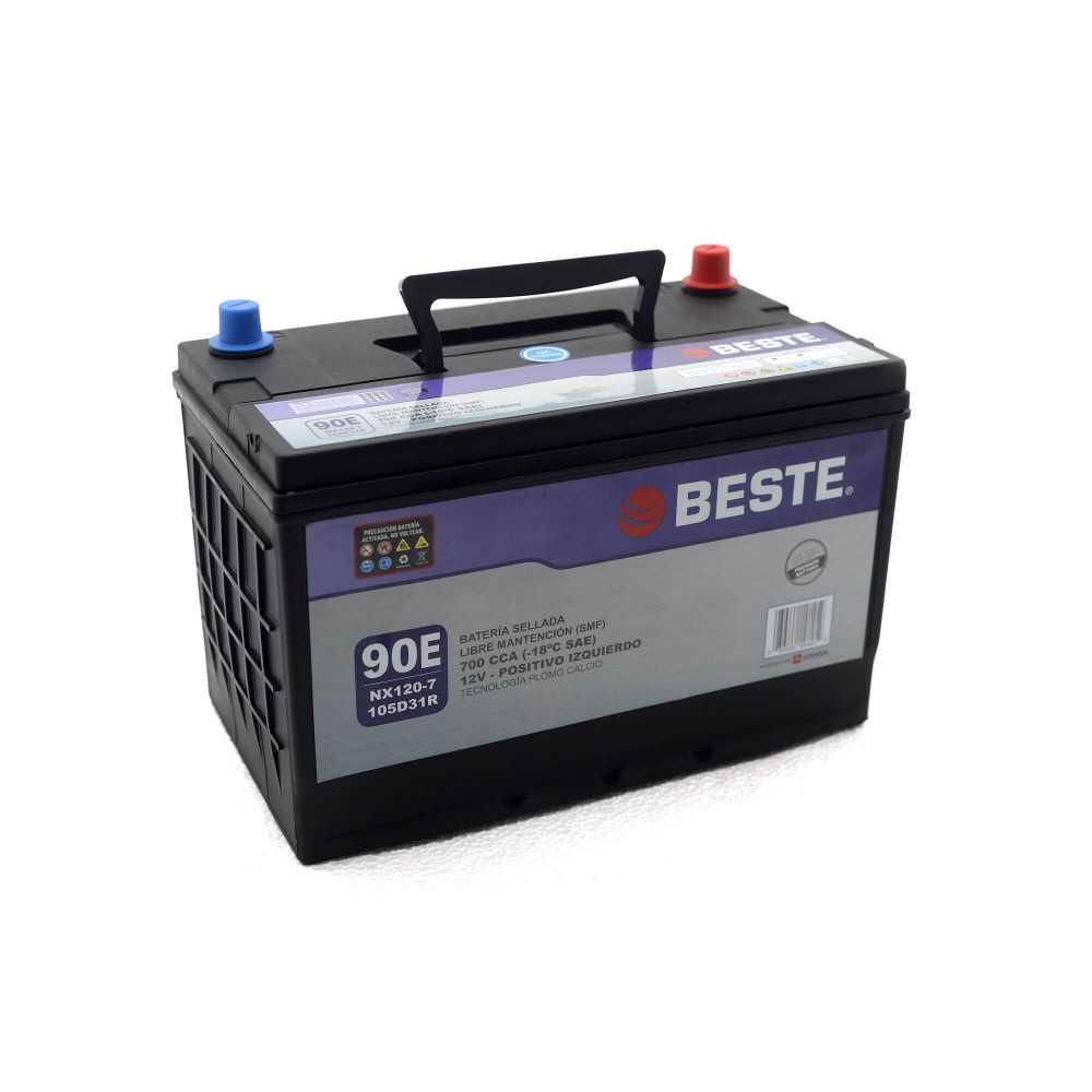 Batería de Auto 12V 90Ah Positivo izquierdo Beste 39NX120-7GB
