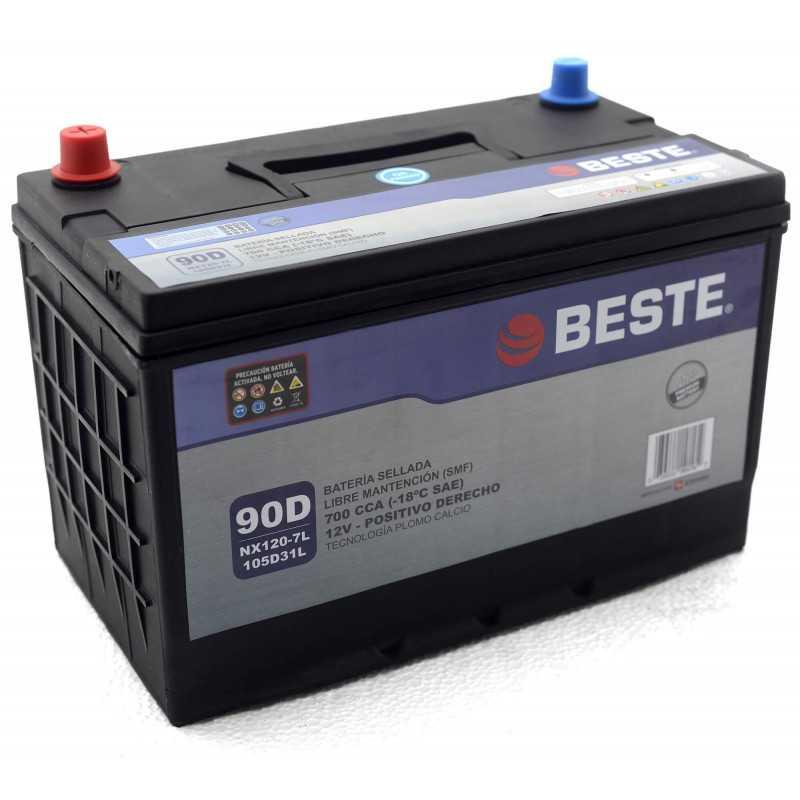 Batería de Auto 90Ah Positivo derecho Beste 39NX120-7LGB