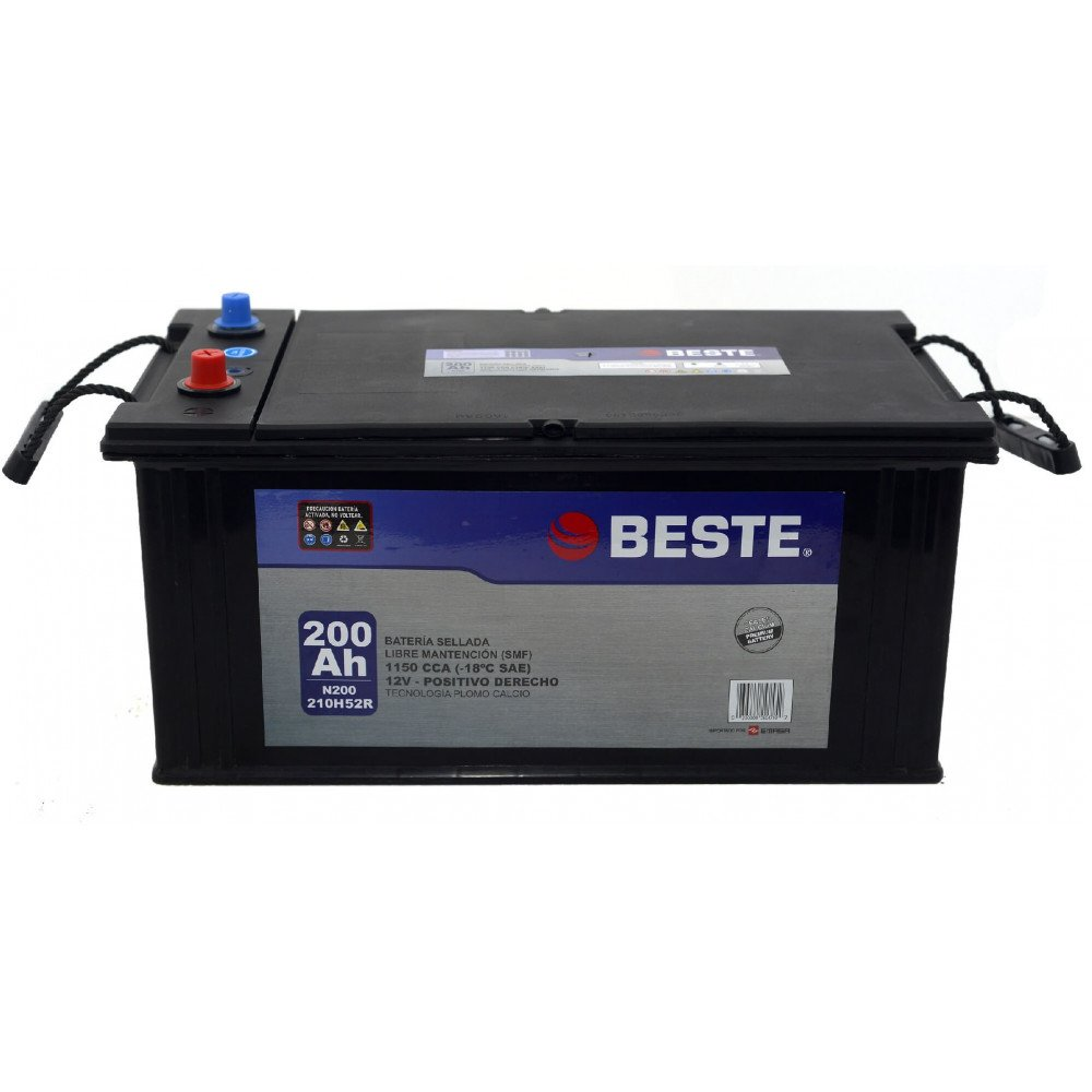Batería de Auto 200Ah Positivo derecho Beste 39N200GB