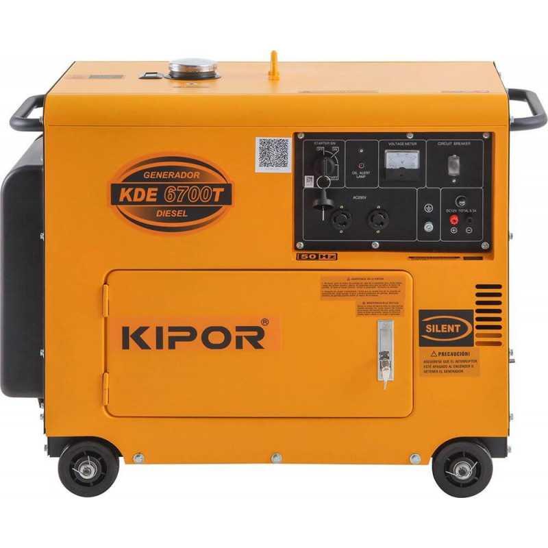 Generador Eléctrico DIESEL INSONORIZADO 5 KW KDE-6700T Kipor 305010003