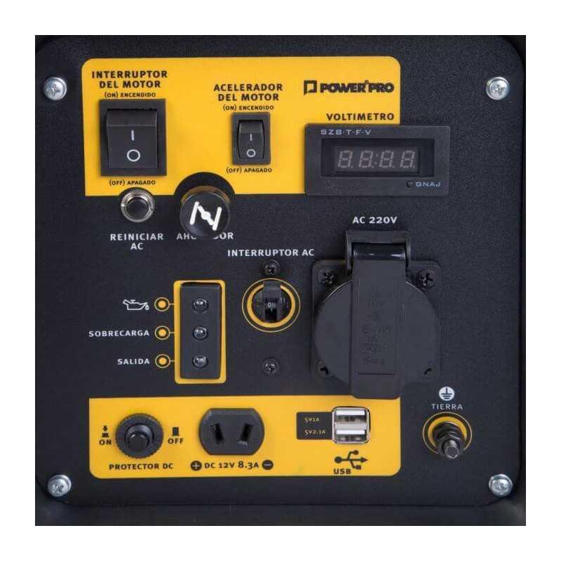 Generador Eléctrico Inverter A Gasolina 3.5Kw XT35IG Power Pro 103010914