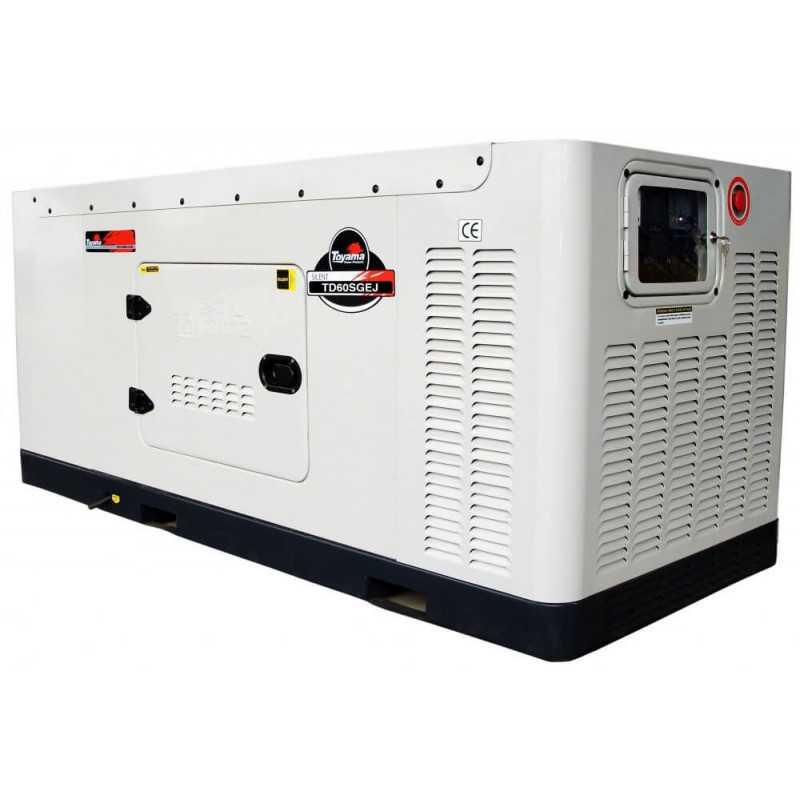 Generador Eléctrico Diésel 60 KW Trifásico Cabinado Con ATS Toyama TD60SGEJ-ATS