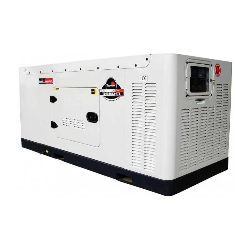 Generador Eléctrico Diésel 41.25 KVA Trifásico Cabinado Con ATS Toyama TD40SGEJ-ATS