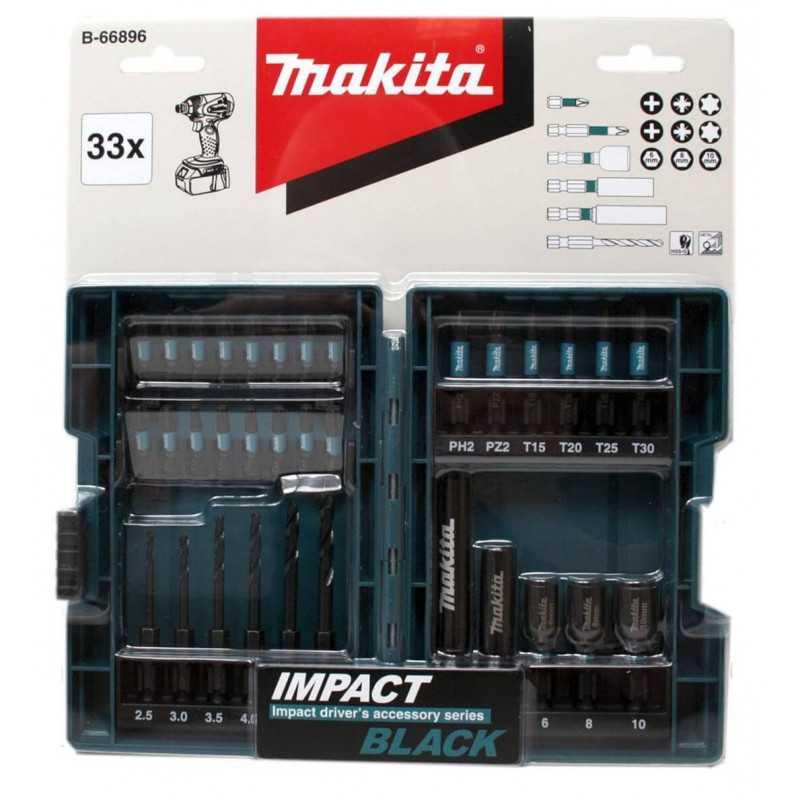 Juego de Puntas 33 Pzs IMPACT BLACK Makita B-66896