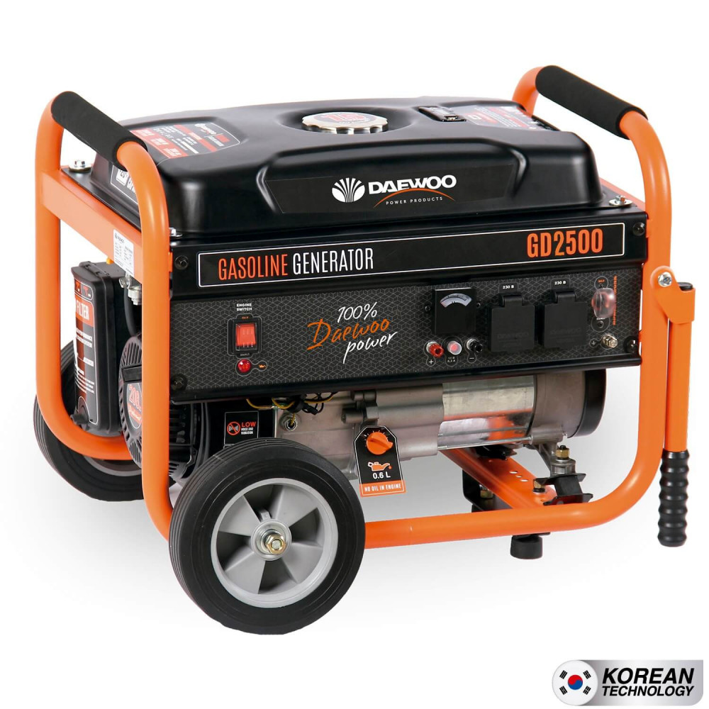 Generador Eléctrico a gasolina 2kva partida manual GD2500 Daewoo 7799034005343