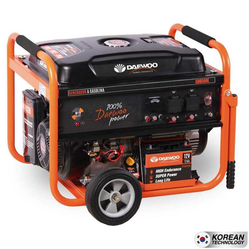 Generador Eléctrico a gasolina 5.5kva partida electrica GD6500E Daewoo 7799034005121