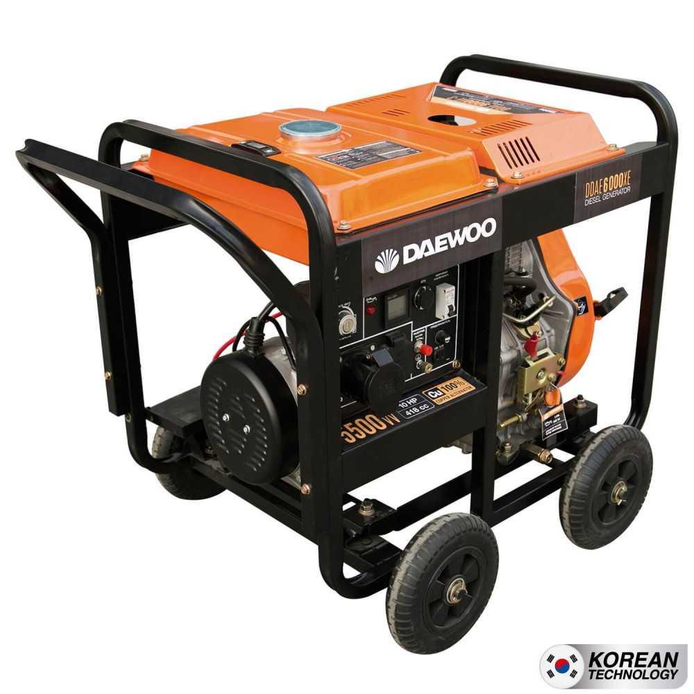 Generador Eléctrico Diesel 5kva Partida eléctrica DDAE6000XE Daewoo 7798125047880
