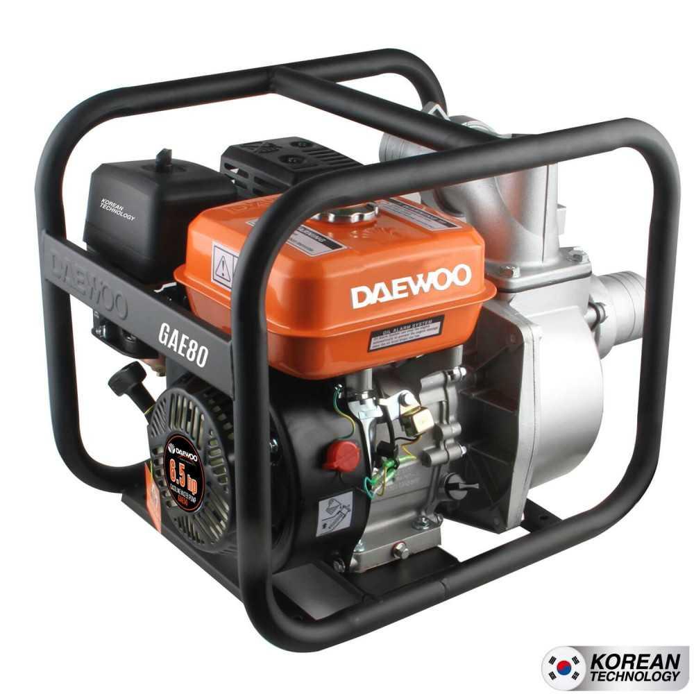 """Motobomba a gasolina 3"""" x3"""" Partida Manual Agua Limpia GAE80 Daewoo 7798125044544"""