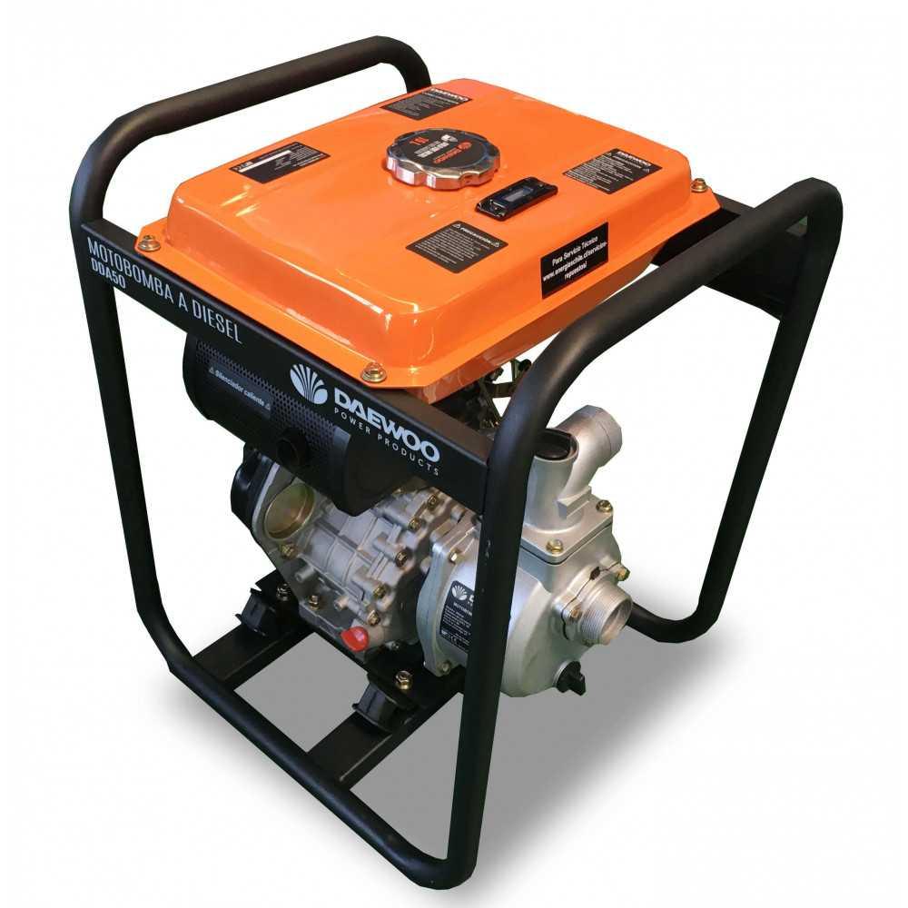 """Motobomba Diesel 2""""x2"""" Partida Eléctrica Agua Limpia DDA50E Daewoo 7798125044605"""
