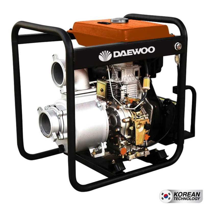 """Motobomba Diesel 4""""x4"""" Partida Eléctrica Agua Limpia DDA100E Daewoo 779903400829"""