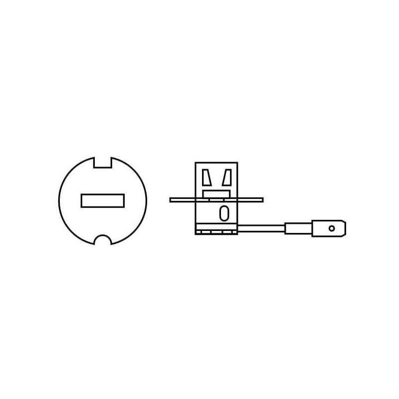 Ampolleta para Automóvil Luz antiniebla 12V 55W H3 Estandar Fusion Bright Bosch 111987304037