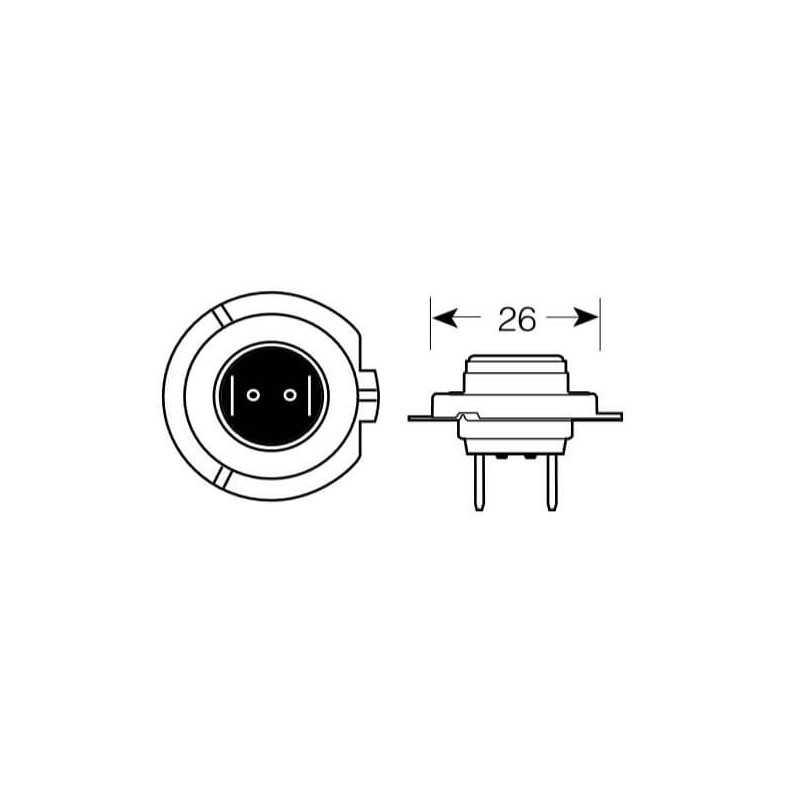 Ampolleta LED para Automóvil Foco Mayor 12-24V 30W H7 Beste 57B1H7LED