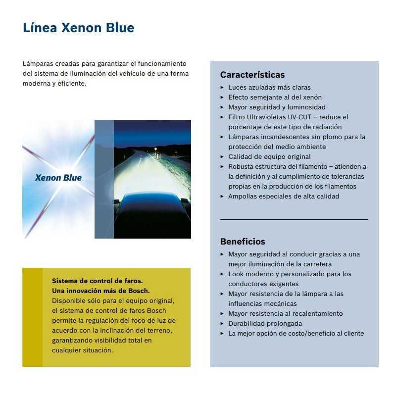 Ampolleta para Automóvil Foco Mayor - Luces bajas 12V 55W H7 Xenon Blue Bosch 111987302075