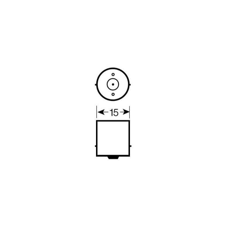 Ampolleta de Señalización para Automóvil 5W R5W Bosch 110986BL0444