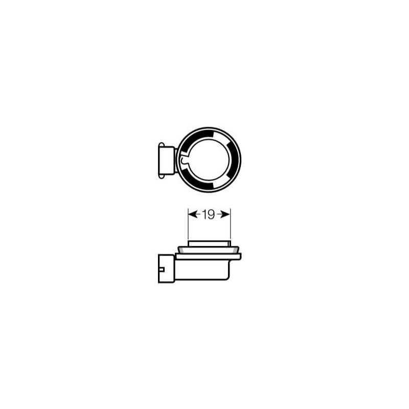 Ampolleta - Luz antiniebla para Automóvil 12V 35W H8 Estándar Bosch 110986AL1527