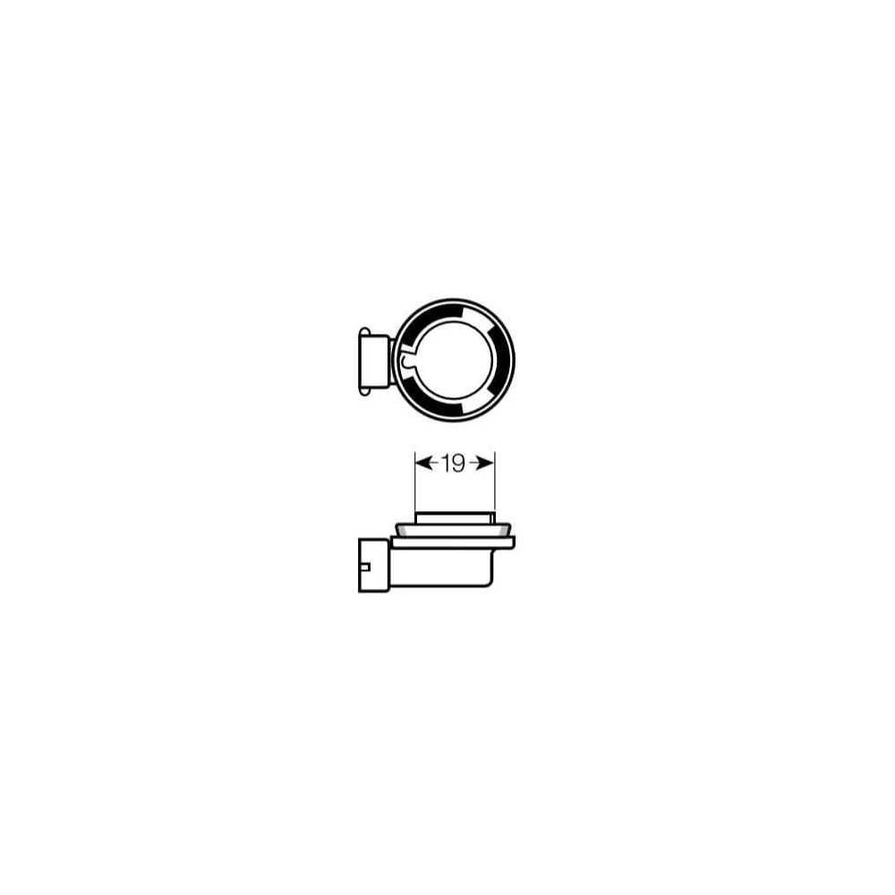 Ampolleta - Luz antiniebla para Automóvil 12V 65W H9 Estándar Bosch 110986AL1528