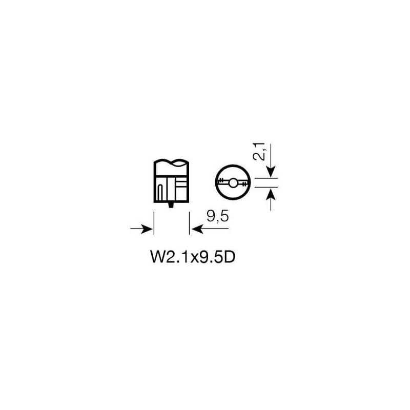 Ampolleta para Automóvil tipo Cola de Pescado 12V 3W T3 Estándar Bosch 110986BL0450