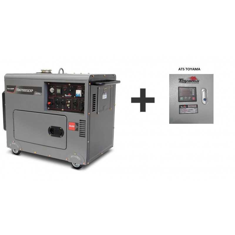 Generador Eléctrico Diésel Partida Eléctrica TDG7000SEXP Silencioso 5.5 KW + ATS Toyama 251-071C + ATS