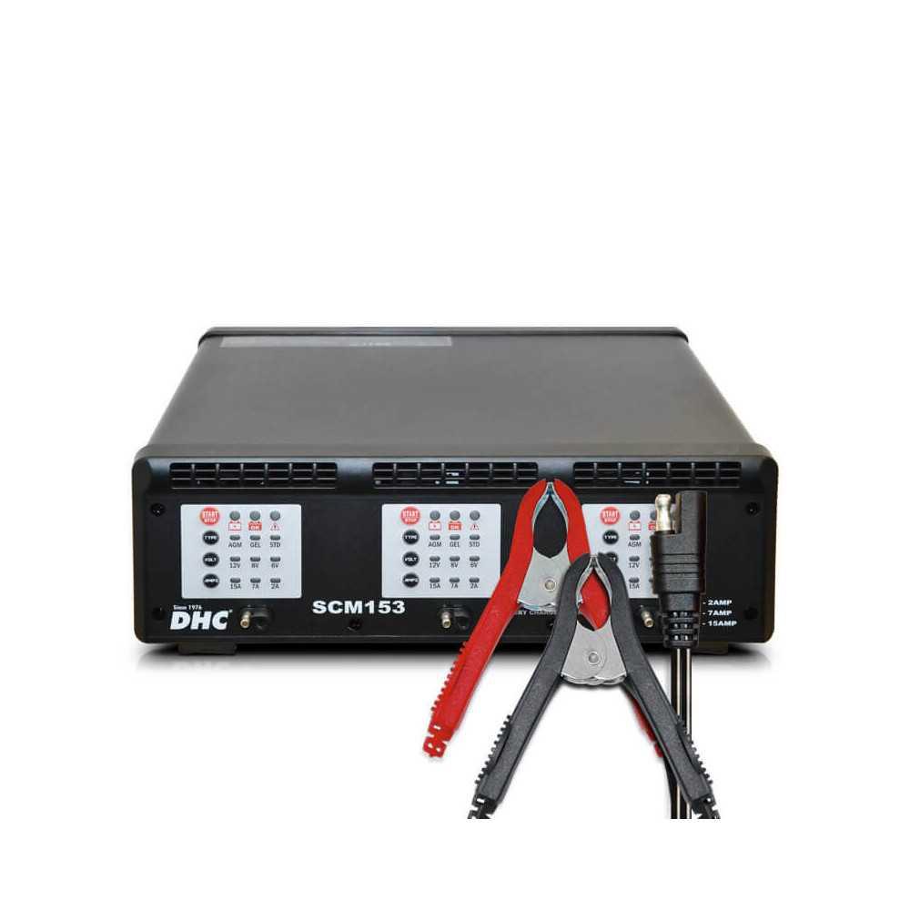 Cargador de Batería 6/12V Mantenedor 3 Estaciones DHC 39DHC-SCM153