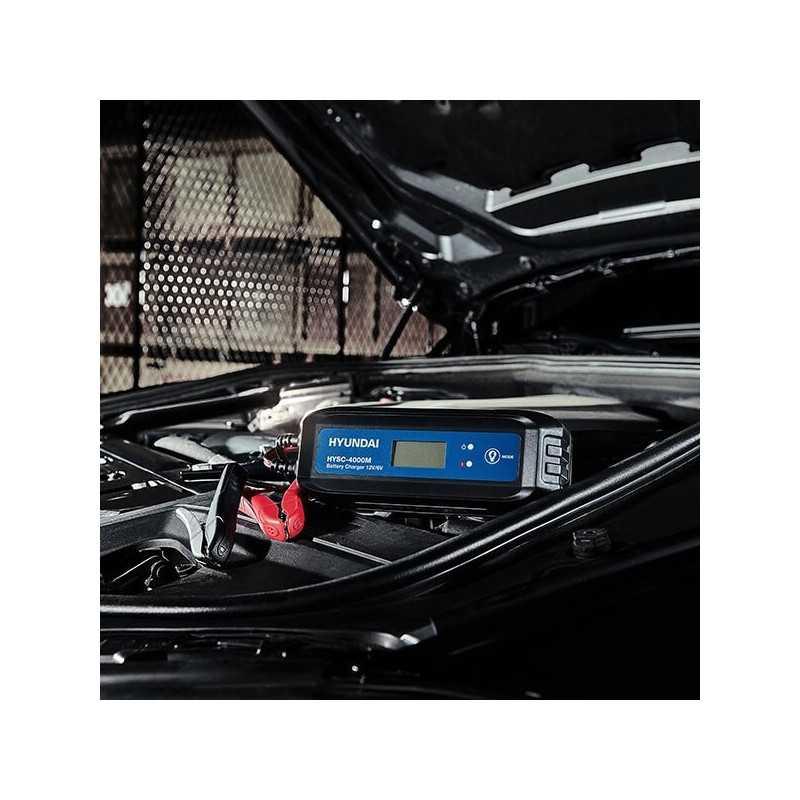 Cargador de Batería 6/12V Smart Charger 4000M Hyundai 11HYSC-4000M