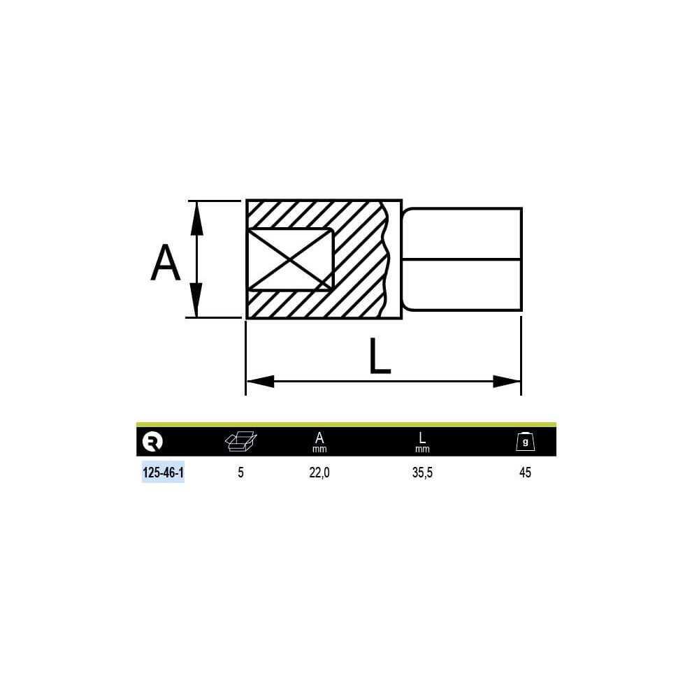 """Adaptador Reductor de 1/2"""" a 3/8"""" Irimo 125-46-1"""