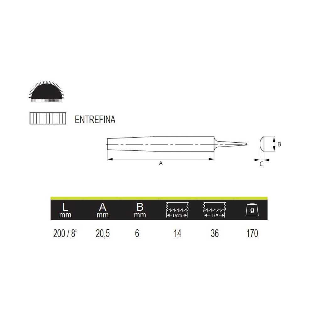 """Lima De Media Caña 8"""" Irimo 534381"""