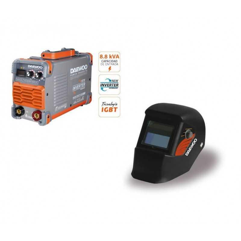 Soldadora Inverter 8800W 200AMP DW250XLMMA+Máscara DALYG3500B Daewoo 7799034118036