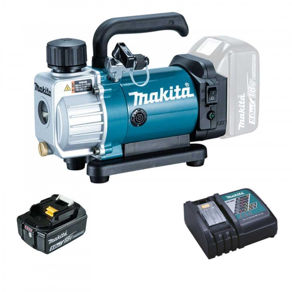 Bomba de Vacío Inalambrica 18V + Bateria y Cargador Makita DVP180RT