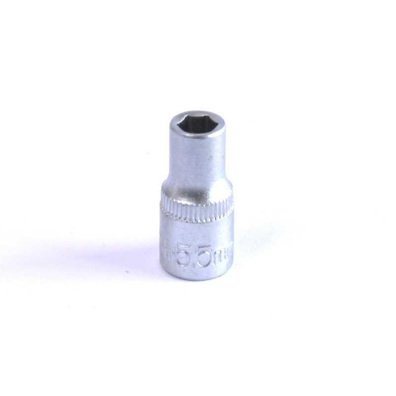 """Dado Hexagonal 5.5 MM Cuadrante 1/4"""" Endure DHE145.5"""